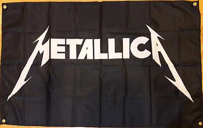 Metallica Flag Wall Decor Heavy Metal Banner 5 Feet X 3 Feet