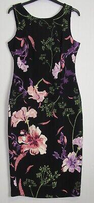 UK Size 10-14 Marks /& Spencer Per Una Floral Print Crinkle Midi Dress