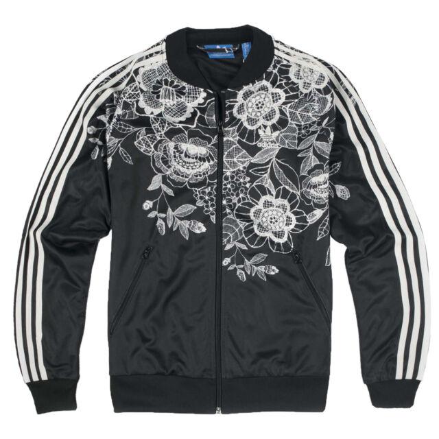 5643b8715e Adidas Originals x The Farm Florido Sst Superstar Tt Giacca Bomber Nero  Fiori