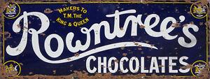 Rowntrees-Chocolates-Advert-Sign-Vintage-Retro-ENAMEL-METAL-TIN-SIGN-WALL-PLAQUE
