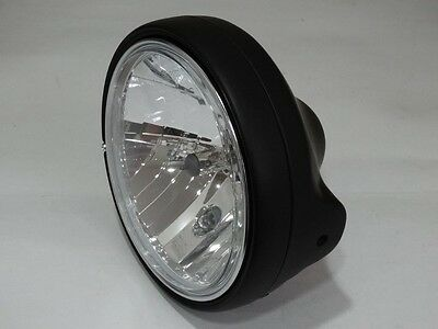 Scheinwerfer Klarglas H4 Schwarz Yamaha XJ XS FZ 400 600 650 750 850 900 1100