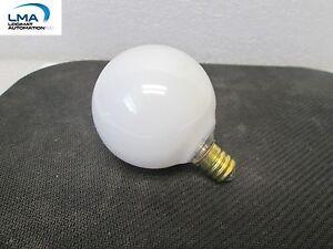 4x-HASKEL-40W-WHITE-GLOBE-BULB-LIGHT-LAMP-130V-3000HRS-2-034-ROUND-G16-1-2-NEW