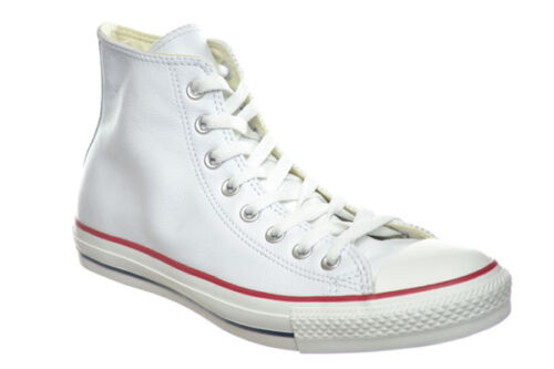 Converse Chuck Taylor All Star Hi Leather Unisex Shoes White//Red//Blue 132169C