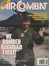 AIR COMBAT Magazine June 1991 Vikings of VS-37 - Lockheed F-117A Stealth Fighter
