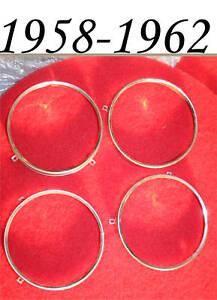 Corvette-1958-1959-1960-1961-1962-Headlight-Bulb-Stainless-Bucket-Retainers