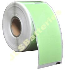 10 Rolls 99012 Dymo Seiko Compatible 260 GREEN Thermal labels per roll 36 x 89mm