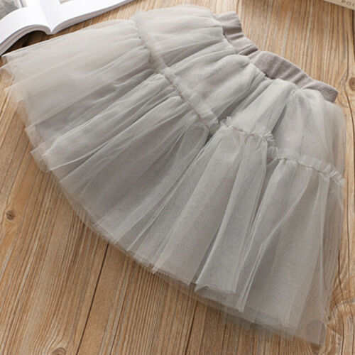 Girls Rabbit Print Tops T-shirt Tutu Skirt Outfit Clothes Kids Party Sun Dress