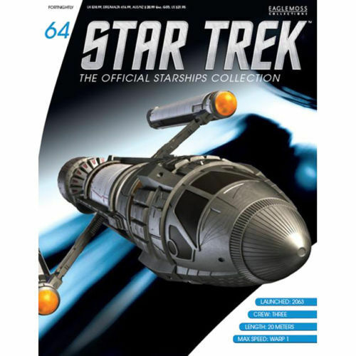 Eaglemoss Diecast Star Trek Phoenix Prototype Warp Ship #64 w//Collector Magazine