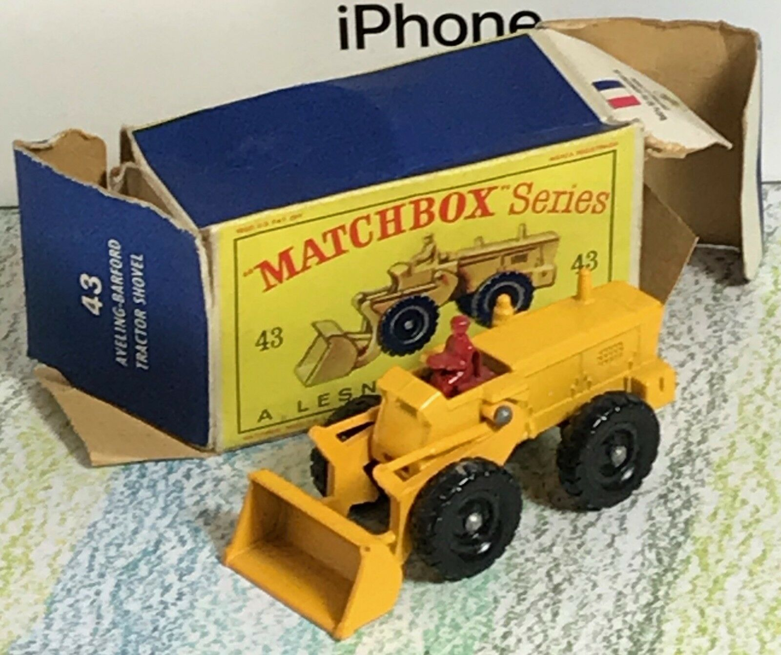 Matchbox Matchbox Matchbox Lesney b Aveling Barford Tractor Shovel red driver Mint in Box 666ee1