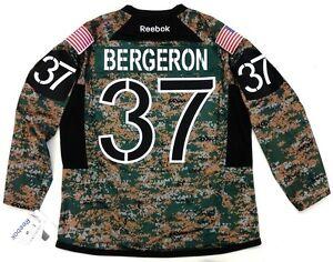 pretty nice dc4d5 a6023 Details about PATRICE BERGERON BOSTON BRUINS REEBOK PREMIER CAMO JERSEY  CAMOUFLAGE
