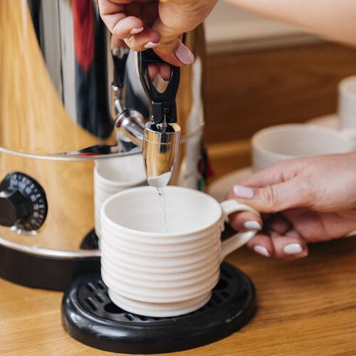 HOT WATER URN BOILER KETTLE 9 LITRE CATERING CAFE RESTAURANT 9L 1500W