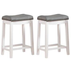 Bar Stools Set Of 2 Saddle Seat Chair