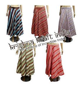 25pc-Hippie-Boho-Striped-Hobo-Cotton-Wrap-Around-Long-Skirt-Dress-Wholesale-Lot