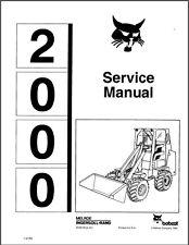 Bobcat 2000 Articulating Wheel Loader Service Manual On A Cd