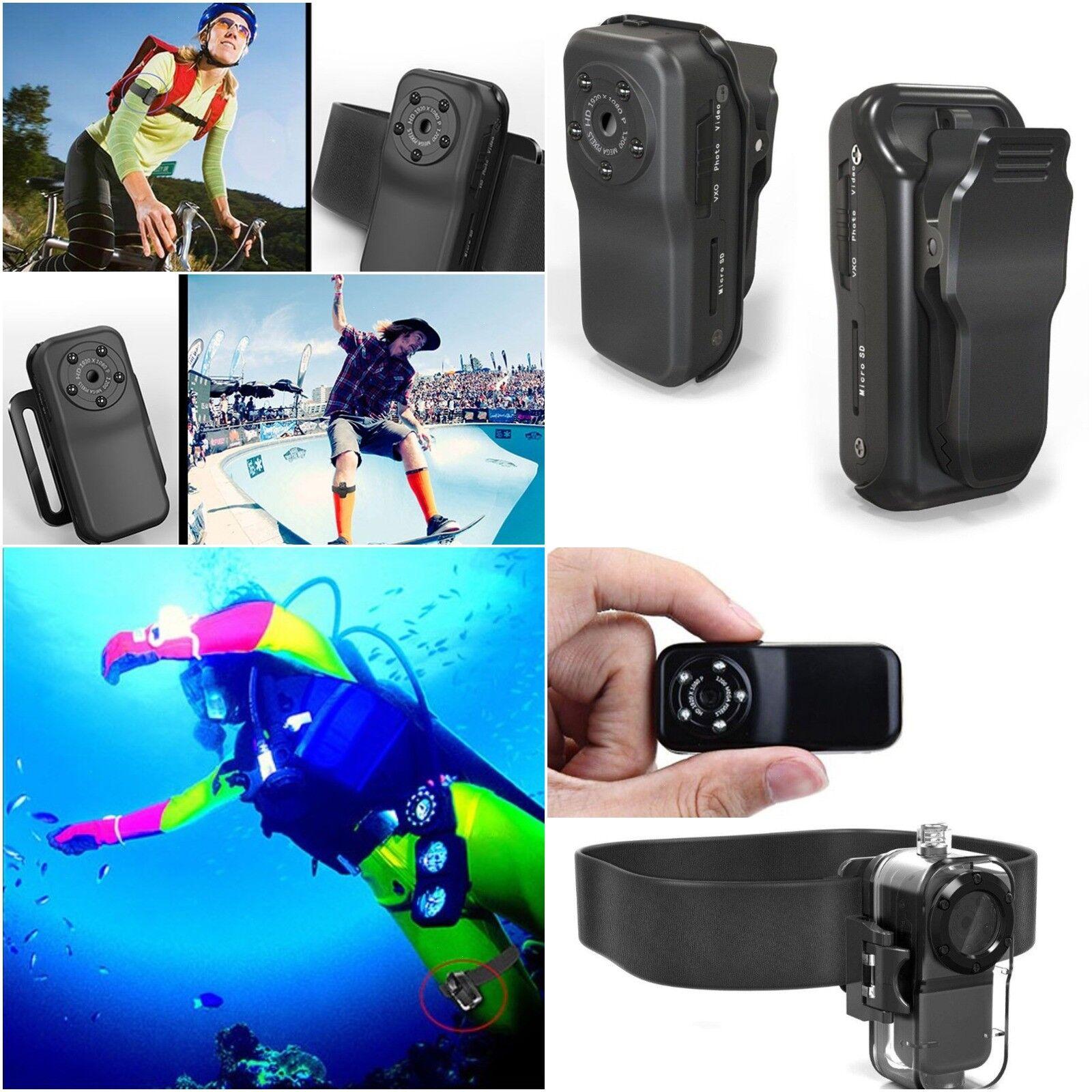 DV Helmet Camera FULL HD 1080P 12MP Mini DV Waterproof DVR Night Vision Recorder