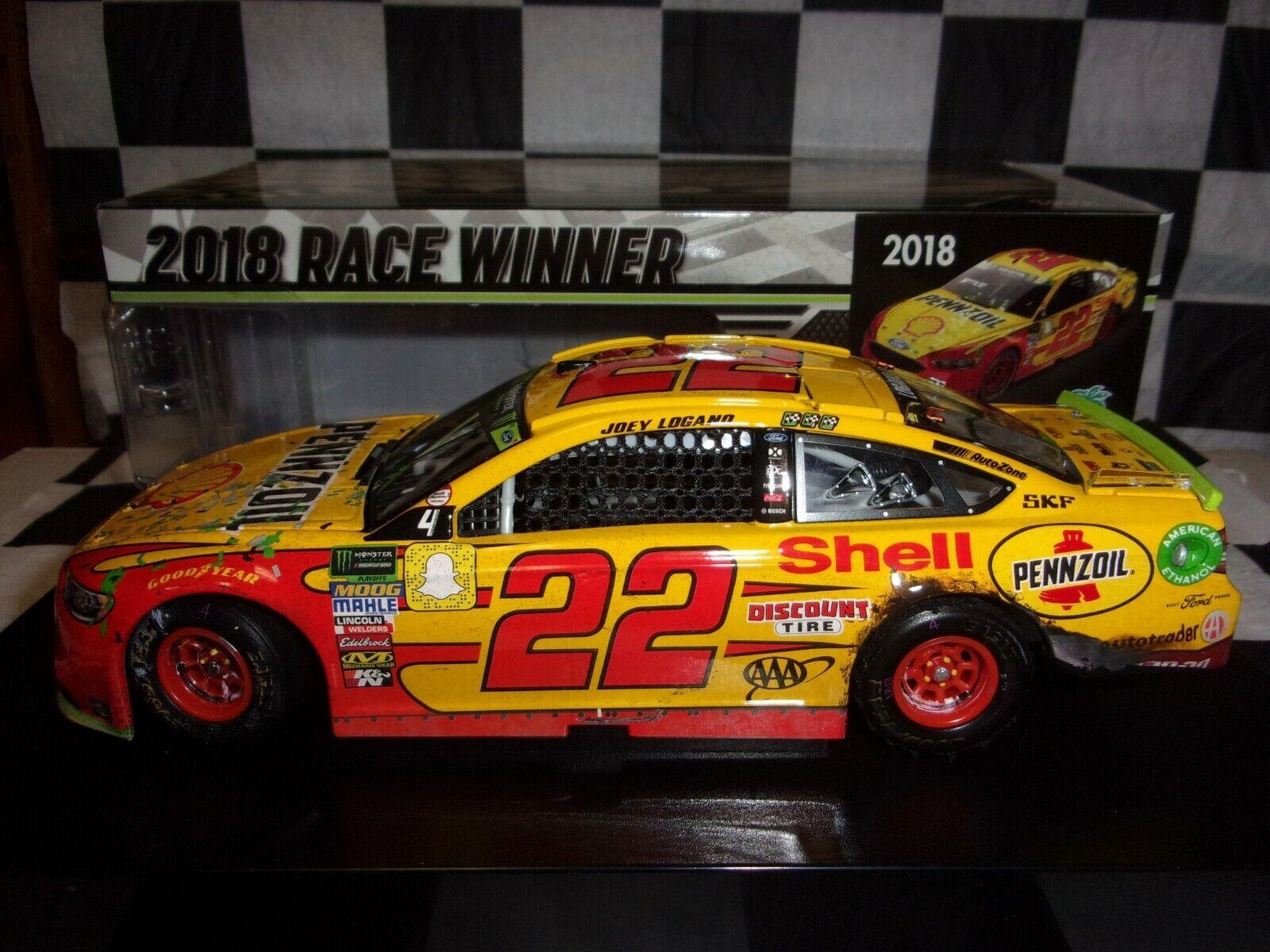 Joey Logano  22 Shell Pennzoil Homestead Win 2018 Fusion 1 24 scale car NASCAR
