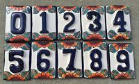 Mexican Decorative House Numbers Ceramic Tile Talavera Hand Painted