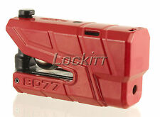ABUS Granit Detecto 8077 RED alarmed motorcycle disc lock made in Germany