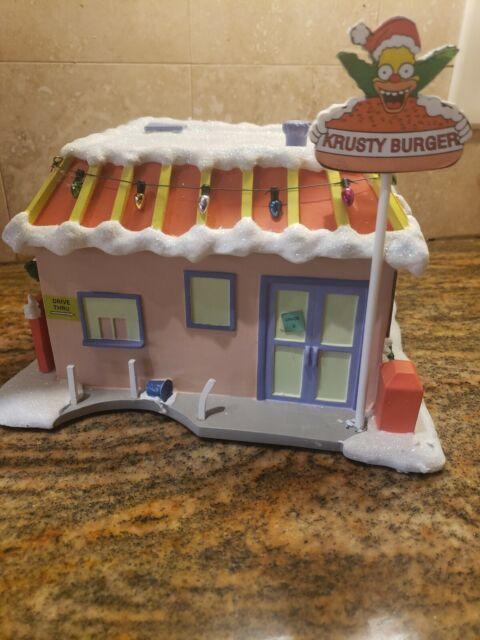 Simpsons Christmas Village.Hawthorne The Simpsons Christmas Village Krusty Burger