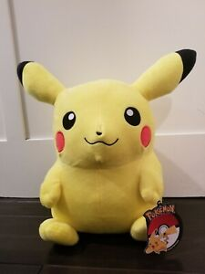 """Official Licensed Pokemon Pikachu Plush Stuffed Toy Kids Large 14"""" Authentic New"""
