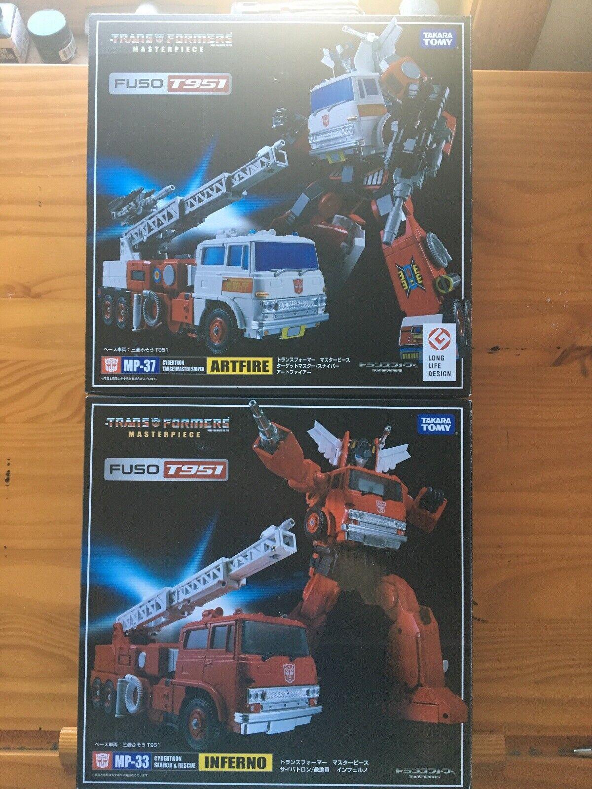 Transformers Masterpiece Inferno & Artfire Lot