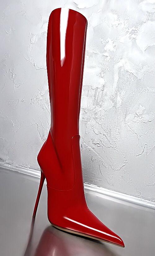 NEU MADE IN ITALY SEXY ULTRA Z22 Stiefel POINTY HIGH HEELS STIEFEL Stiefel Z22 SCHUHE LEDER 41 c96ec9