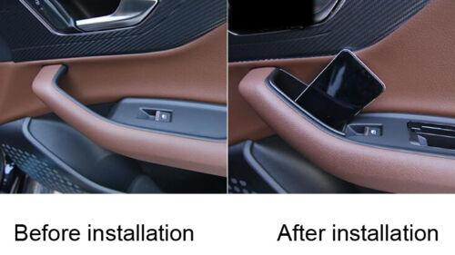 Black Interior Front Car Door Storage Box 2pcs For Audi Q7 2016  2017 2018
