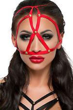 Harness Rot  Kopfharness Kopfmaske Maske Kopfschmuck  Accessoire Mask  One Size