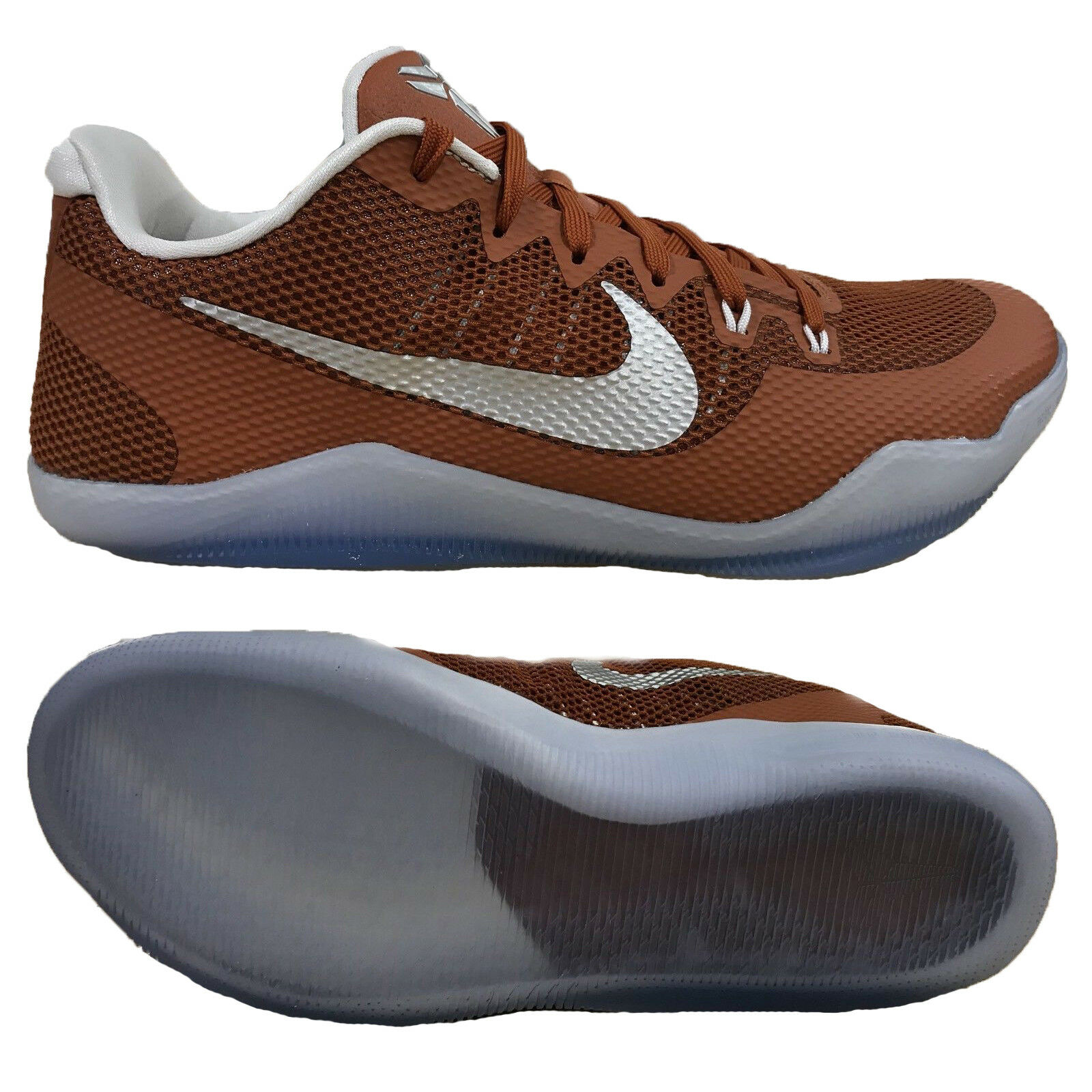 Nike Kobe XI TB Promo Texas Longhorns 856485-882 Desert orange Silver Men shoes