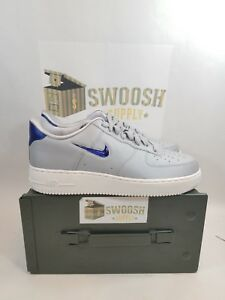 1ee771570db4 Nike Air Force 1 Low 07 LV8 Leather Wolf Grey Royal Blue Size 9 ...