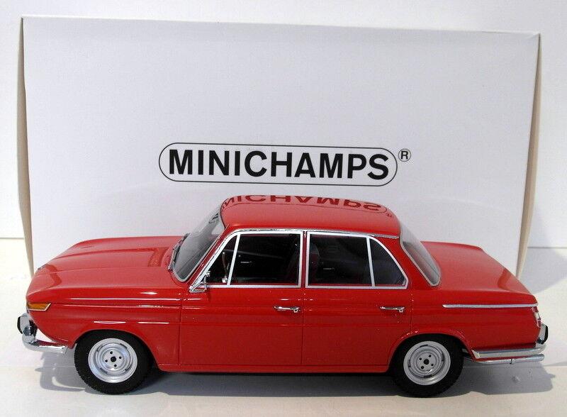 Minichamps 1 18 Scale Resin - 107 024001 BMW 1800 Ti 1965 rojo