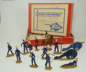 Vintage-Collectible-Soldiers-Pew-KILIA-Germany-French-Artillery-Box