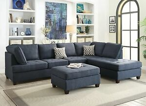 Image is loading Living-Room-Furniture-2pc-Sectional-Sofa-Reversible-Chaise- : chaise living room furniture - Sectionals, Sofas & Couches