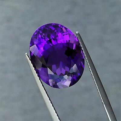 13.150 cts Marvelous luster purple natural amethyst oval loose gemstones