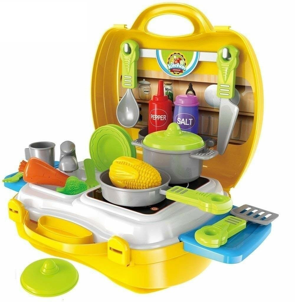 Smartcraft Ultimate Kid Chef Bring Along Along Along Kitchen Cooking Suitcase Set 26 Pcs. 4774a1