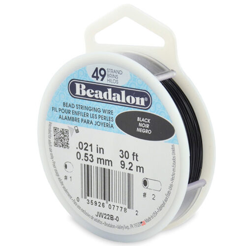 Beadalon Bead Stringing Wire 49 Strand 30//100 FT Colors BRIGHT Various Sizes