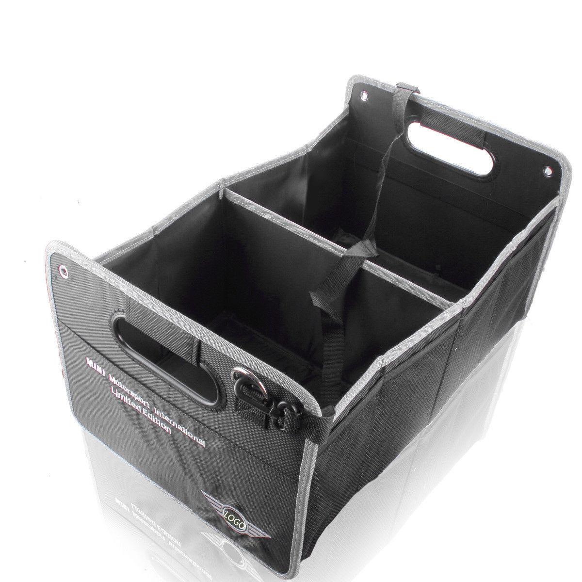 Folding Wing Emblem Car Trunk Soft Storage Organizer Folding for Mini Cooper