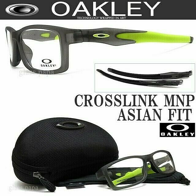 ee572b8e8e8b2 Oakley Crosslink MNP RX Asian Fit Frame Satin Grey Smoke Ox8141-0256 56  8141 for sale online