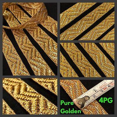 1 Yard Zari Green Red Border Indian Suit Saree Border SewOn Craft Gold Lace Trim