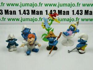 LOT6-Figurine-PVC-schleich-6-SCHTROUMPF-smurf-puffi-pituffo