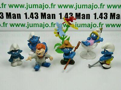 LOT6 Figurine PVC schleich 6 SCHTROUMPF smurf puffi pituffo