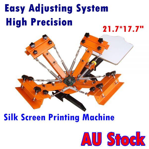 AU-4 Color 1 Station Silk Screen Printing Machine for DIY T-Shirt Printing