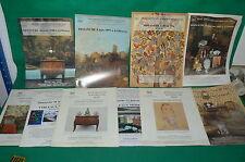LOT de 10 catalogues vente enchères REIMS DIJON tableaux objets de vitrine 1997