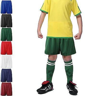 B/&B Unisex Kids Shadow Stripe Gym Sports School PE Shorts Red /& Blue Color