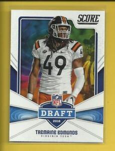 Tremaine-Edmunds-RC-2018-Panini-Score-NFL-Draft-Rookie-Card-16-Buffalo-Bills