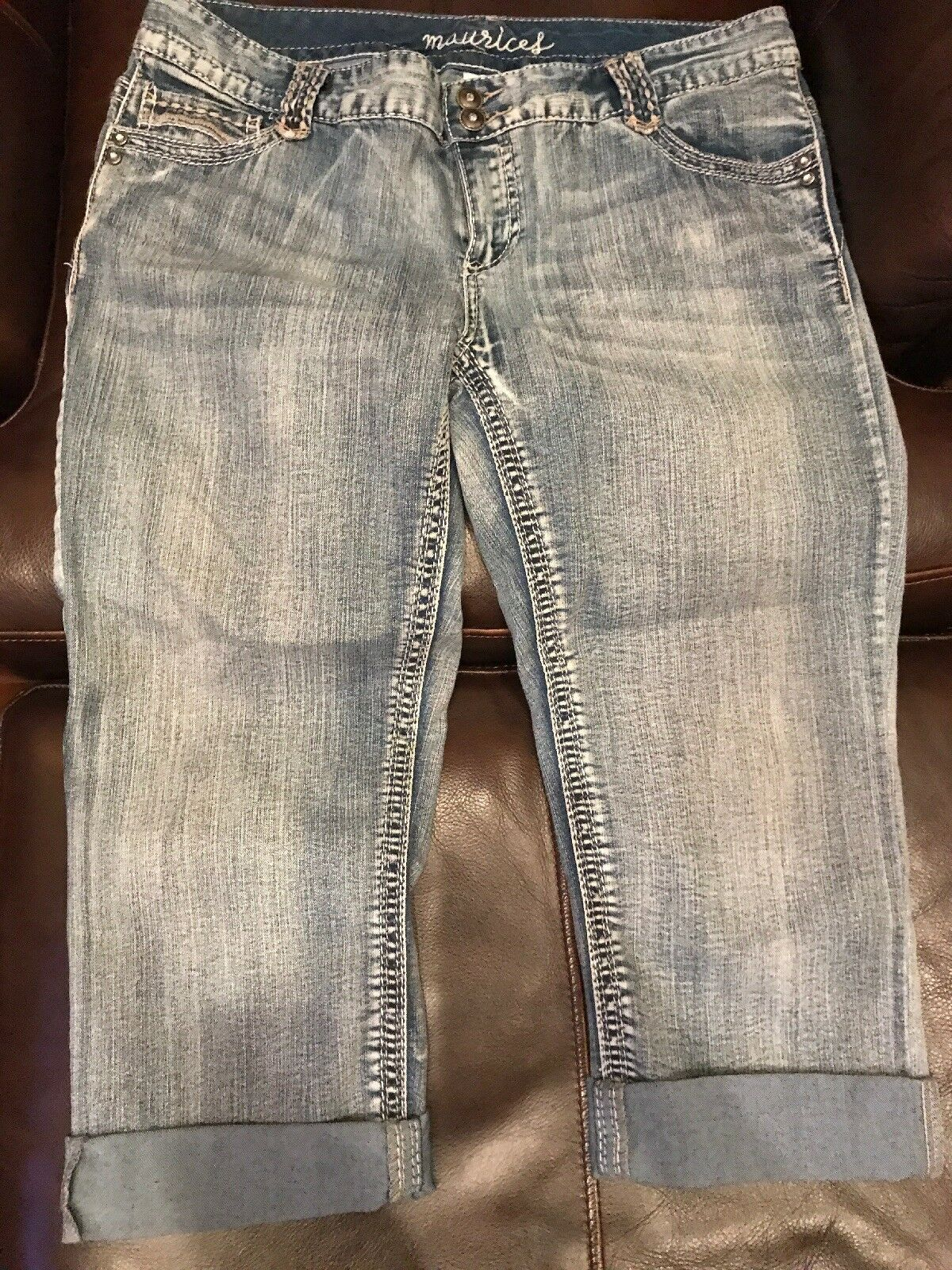 Maurices Womens Capri Jeans Size 13 14