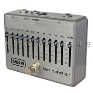 mxr m108 10 band eq silver guitar effects pedal by dunlop graphic equalizer 710137095649 ebay. Black Bedroom Furniture Sets. Home Design Ideas