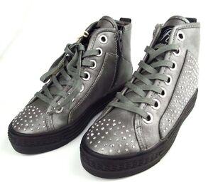 Details zu REPLAY Sneakers BATH Damen Mädchen Schuhe Stiefel Woman Boots Silber NEU TOP