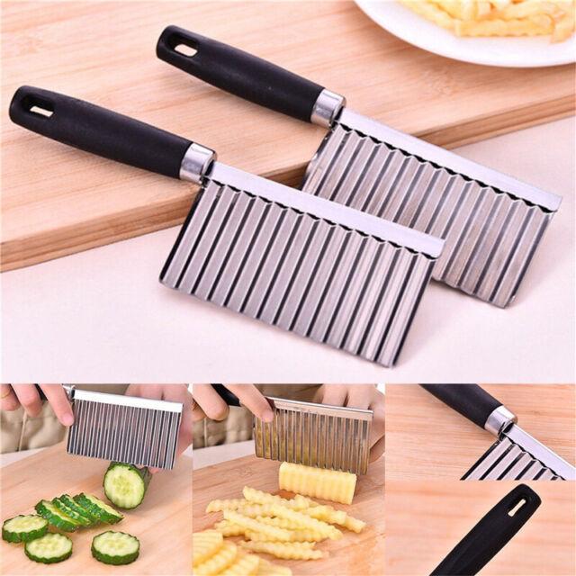 Stainless Steel Vegetable Fruit Potato Wavy Cutter Chopper Slicer Peeler Kitchen