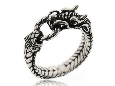 Vintage Mens 925 Sterling Silver Gothic Dragon Claw Rings